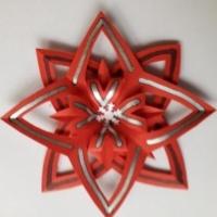 Vorlage DIY Weihnachtsstern > fertiger Stern in rot > Faktwert-Artikel 200x200
