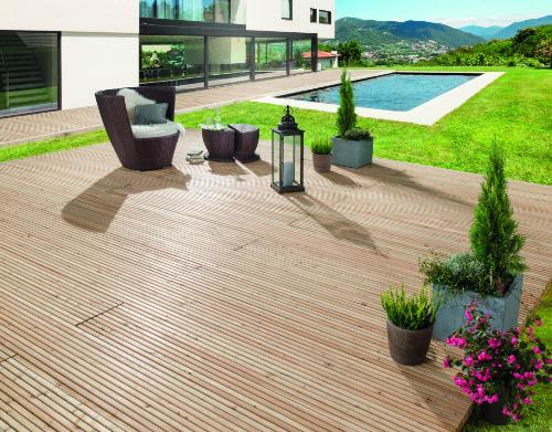 Mocopinus Klasse Terrasse > Garten mit Pool und Blumen > Faktwert-Artikel 500x391